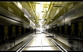 Picture light, graphics, corridor