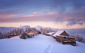 Picture The sky, Nature, Home, Winter, Snow