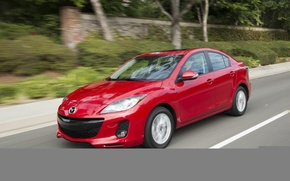 Picture red, speed, Mazda, Red, Sport, 2013
