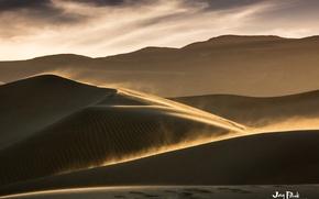 Picture sand, the sky, clouds, landscape, the dunes, the wind, desert, storm, dust, dunes