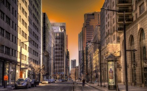 Picture megapolis, hdr, road, Roads, street, Canada, Montreal, Canada