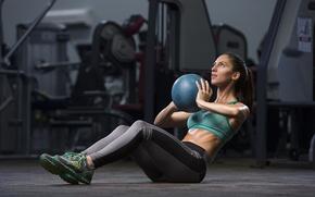 Wallpaper fitness, ball, abs
