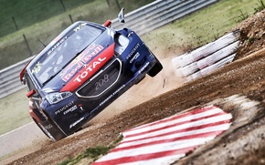 Picture Headlight, Jump, Peugeot, rallycross, 208, worldrx, Davy Jeanney