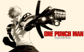 Picture weapons, fiction, anime, cyborg, cyberpunk, One Punch Man, OnePunch-Man, Geno