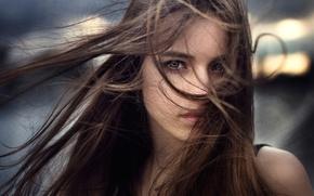 Wallpaper the wind, hair, portrait, Russia, Anastasia, Nastya, George Chernyadev