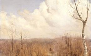 Picture landscape, nature, picture, Gerrit Willem Dijsselhof, Autumn Day