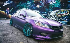 Picture Honda, wheels, Honda, Accord, Tuning, purple, Chord