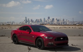 Picture city, mustang, red, ford, other