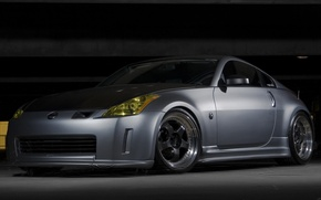 Wallpaper grey, garage, Nissan 350Z