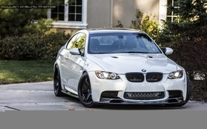 Picture bmw, turbo, white, wheels, tuning, power, germany, e92