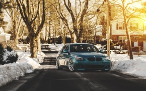 Picture green, bmw, blue, tuning, e60, stance, 528i