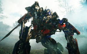 Picture forest, fiction, robot, Transformers, battle, the movie, Revenge of the fallen, Transformers 2, forest battle, …