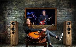 Picture guitar, Girl, Kuzmin