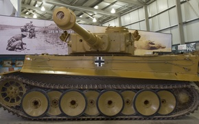 Picture Tiger, Museum, German, heavy tank, tiger I