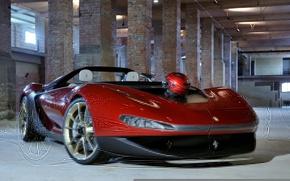 Picture Concept, plant, helmet, abandoned, Ferrari, Sergio