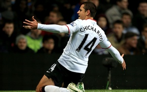 Picture Manchester United, old trafford, chicharito, red devil, chicha