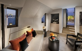 Picture flowers, design, room, sofa, carpet, interior, chair, pillow, balcony, champagne, table