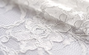 Picture white, flowers, pattern, fold, fabric, lace