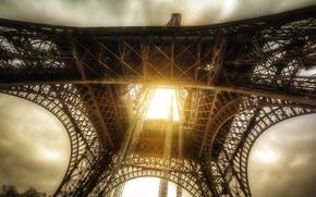 Picture the sun, rays, Paris, France, paris, france, sun, eiffel, tour, tour, the Eifel