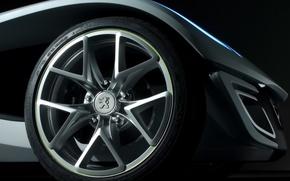 Wallpaper wheel, Peugeot, the concept
