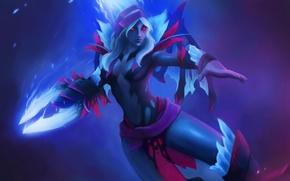 Picture Hero, Game, Dota2, Vengeful Spirit, Flower of Darkness