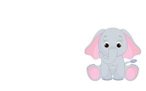 Picture elephant, art, children's. elephant