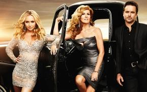 Picture girls, Hayden Panettiere, costume, male, the series, blonde, car, dresses, Hayden Panettiere, Nashville, Nashville, Connie …