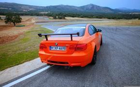 Picture Road, BMW, Turn, BMW, Orange, Movement, Car, GTS, Room Spoiler
