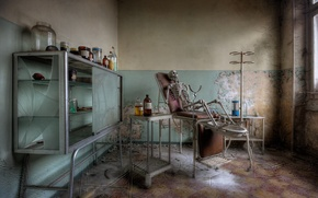 Picture skeleton, office, medicine