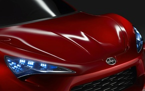 Picture headlight, the hood, emblem, Scion