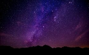 Picture stars, mountains, night, the milky way