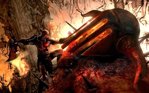 Wallpaper hate, fire, flame, sword, armor, Kratos, soul, PS3, God, armour, hell, rage, pearls, God of ...
