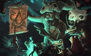 Picture skull, Diablo 3, art, The sorcerer