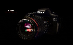 Wallpaper the camera, black background, Canon, EF 100mm F2.8L macro Hybrid IS, EOS 7D