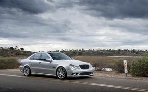 Picture silver, silver, mercedes, Mercedes, amg, AMG, e-class, e55