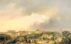 Picture landscape, picture, Ferdinand de Bracelet, The Citadel Of Antwerp, Shortly After The Siege