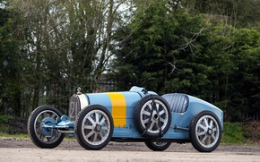Picture Bugatti, Blue, Car, Type, 1924-30, BUGATT, I Retro
