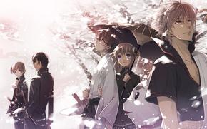 Picture anime, art, guys, characters, Gintama, Gintama
