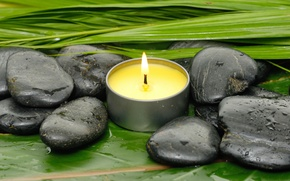 Picture stones, relax, Spa, still life, candles, spa, wellness