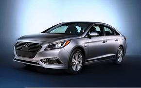 Wallpaper 2015, Sonata, Hyundai, PHEV, Hyundai