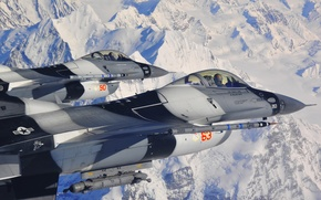 """Picture fighters, pair, cabin, F-16, Fighting Falcon, pilots, """"Fighting Falcon"""""""