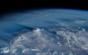 Picture clouds, planet, the atmosphere, Earth, cyclone