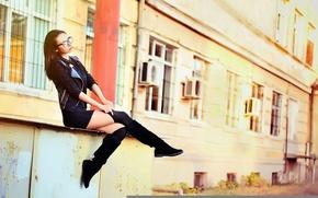 Picture Girl, Hot, Legs, Brunette, Model, Autumn, Beauty, Katerina, Portrait, Bulgaria, Ikoseomer, Shooting
