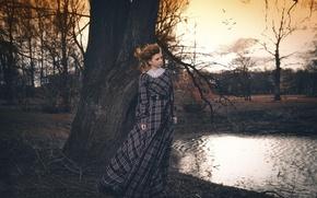 Picture autumn, girl, Park, dress, Svetlana Koroleva