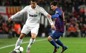 Wallpaper Barcelona, real, ronaldo, messi