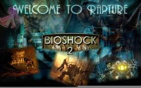 Picture logo, bioshock, big daddy, bioshock 2, little sister
