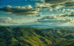 Picture the sky, clouds, hills, Cambrian Hills, Morro Bay, Cambria
