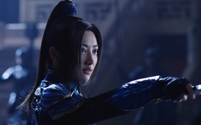 Picture cinema, wallpaper, girl, sword, soldier, armor, long hair, woman, beautiful, movie, ken, blade, brunette, asian, ...