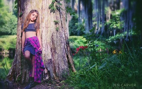 Picture forest, nature, girl