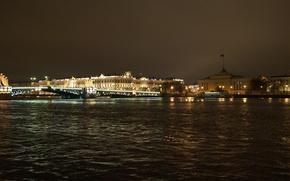 Picture Bridge, Night, Peter, Saint Petersburg